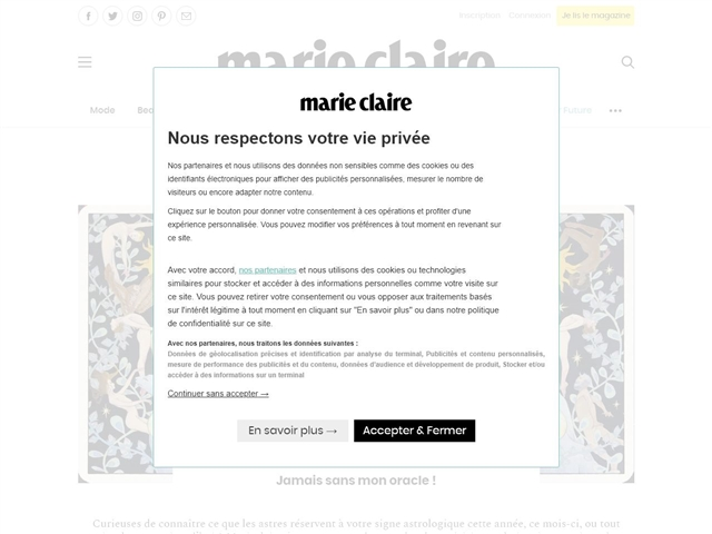 Marie Claire : Astro