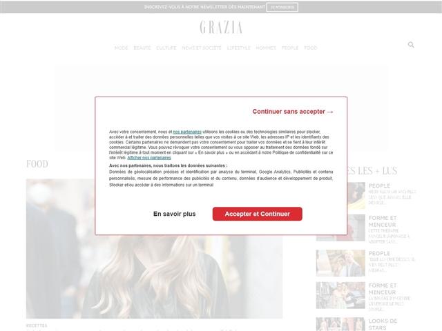 Grazia : Cuisine