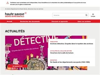 Haute-Savoie (74) - Archives départementales