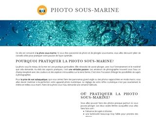 Photo Bio Sous-Marine