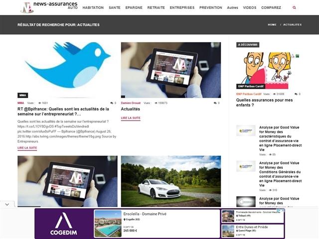 News Assurances : Actualité