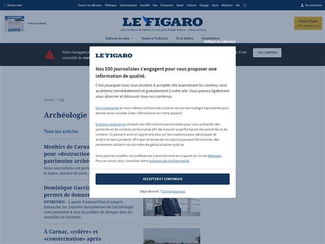 Le Figaro : Archéologie