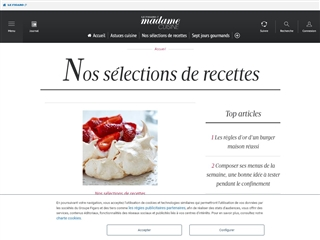 Le Figaro Madame : Cuisine / Idées de Recettes