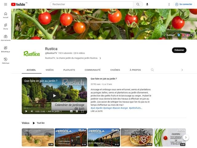 Youtube : Rustica TV