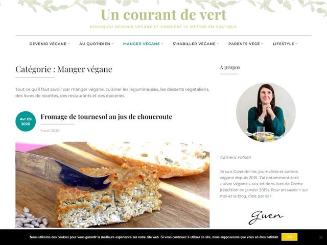 Un Courant de Vert : Cuisine vegan