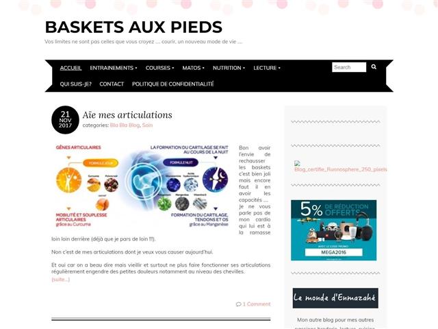 Baskets aux pieds