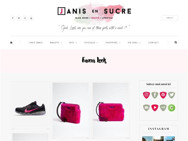 Janis en Sucre : Favoris Look