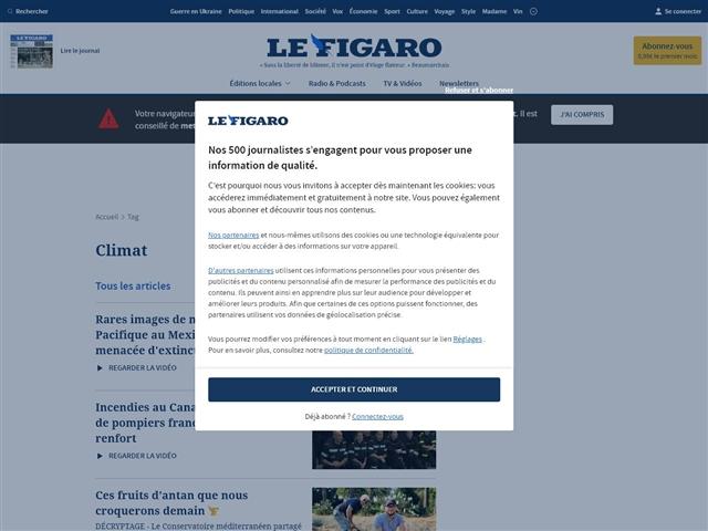 Le Figaro : Climat
