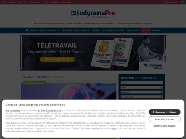 Studyrama Pro : Expatriation
