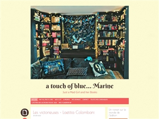 A touch of blue marine - Just a mad girl and her books