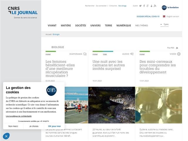CNRS : Le Journal : Biologie