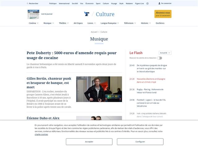 Le Figaro : Musique