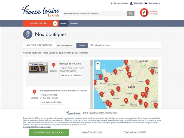 France Loisirs : Boutiques