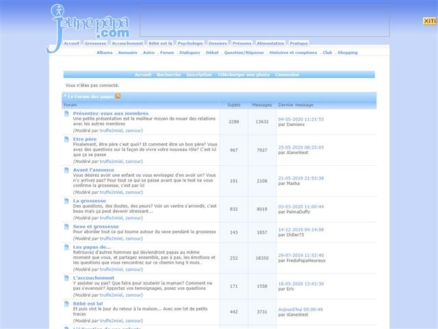 JeunePapa.com : forums