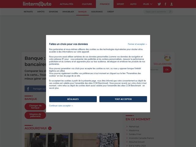 L'Internaute Argent : Banque