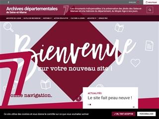 Seine-et-Marne (77) - Archives départementales