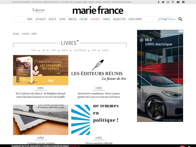 Marie France : Livres