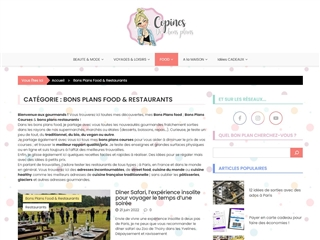 Copines de Bons Plans : Courses Food