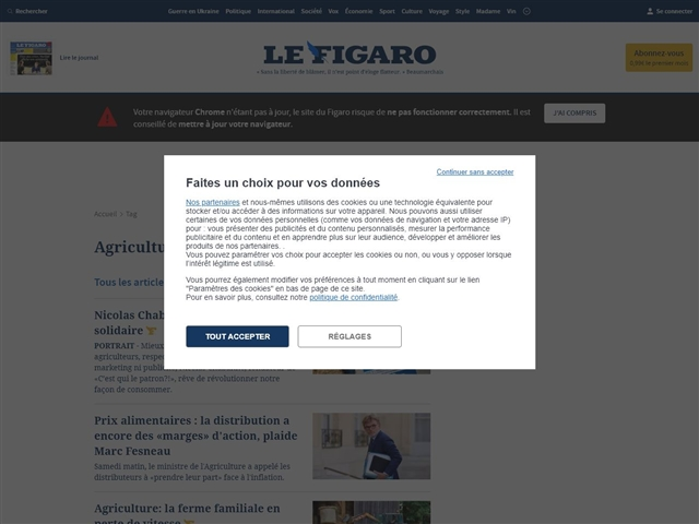Le Figaro : Agriculture