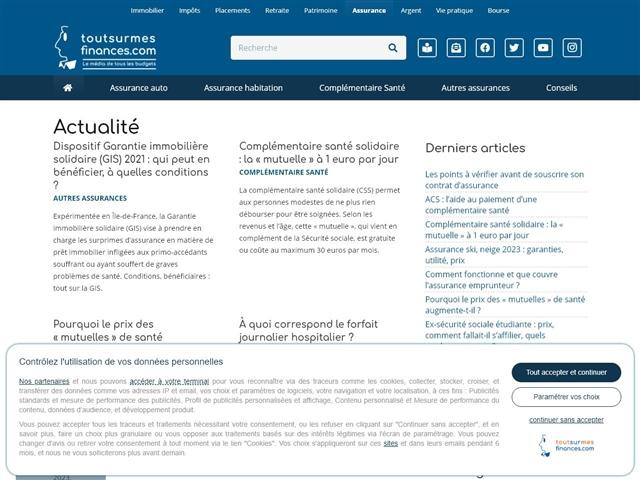 Tout sur mes finances : Actualité des assurances