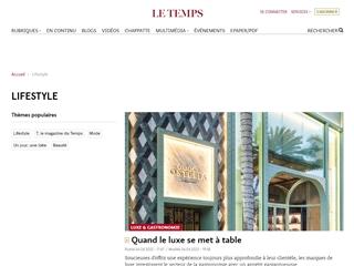 Le Temps.ch : Lifestyle