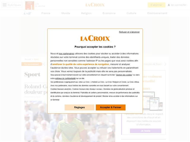 La Croix : Sport