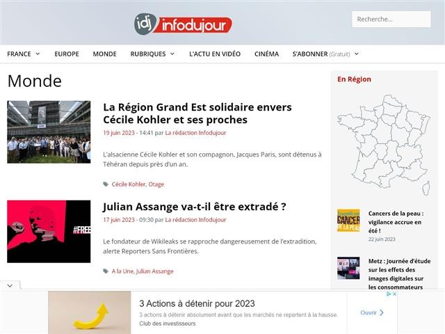IDJ - Info du Jour : Monde