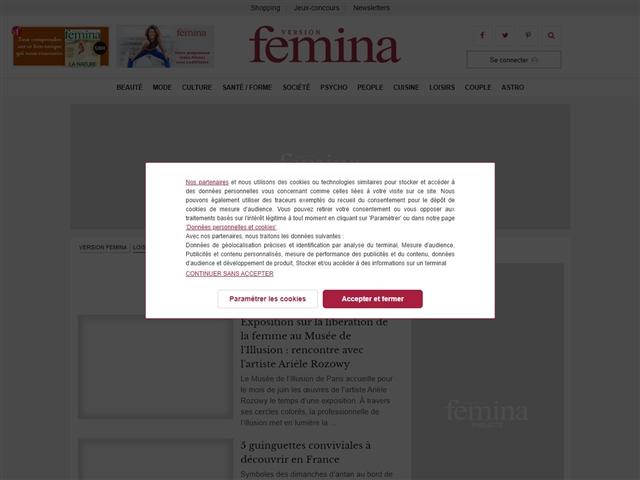 Version Femina : Sorties
