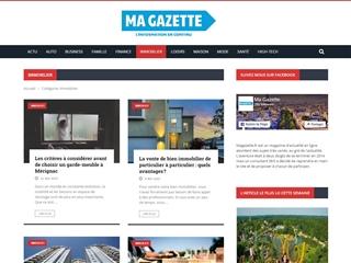 Ma Gazette : Immobilier