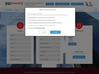 ESGF - Ecole Supérieure de Gestion et de Finance