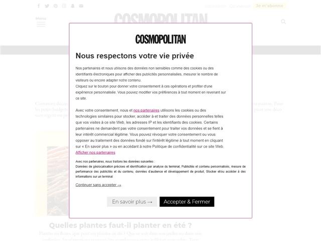 Cosmopolitan : Déco
