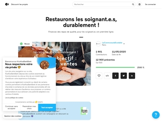 Kiss Kiss Bank Bank : Restauration des soignants