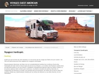 Ouest Américain : Voyageurs Handicapés