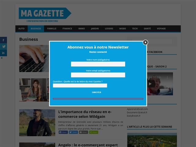 Ma Gazette : Business
