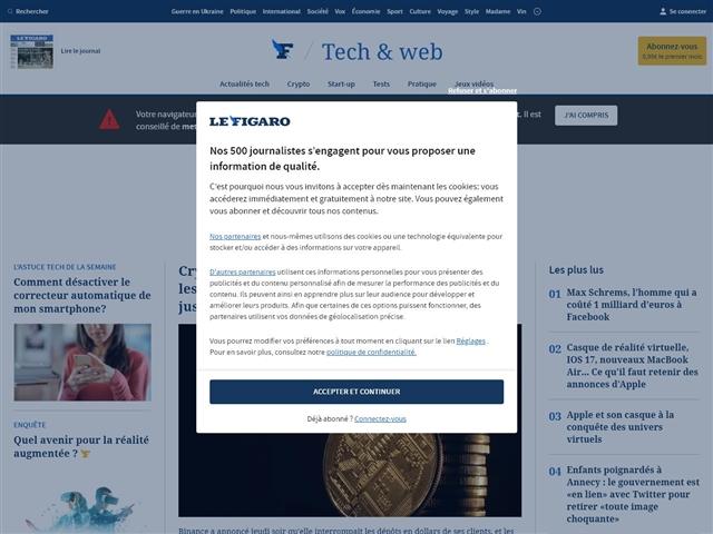 Le Figaro : High-tech