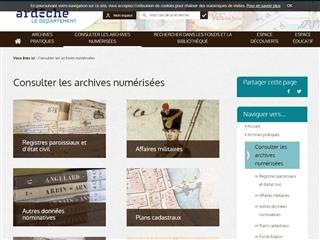 Ardèche (07) - Archives départementales