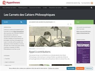 Les Carnets des Cahiers Philosophiques