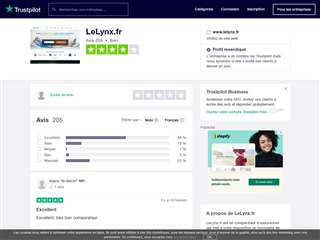 Trustpilot : Le Lynx.fr