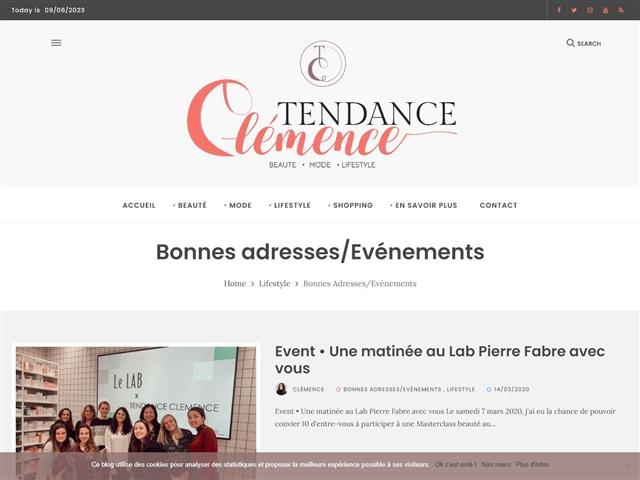 Tendance Clémence : Bonnes Adresses / Evénements