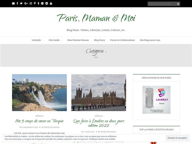Paris, Maman & Moi : Voyages