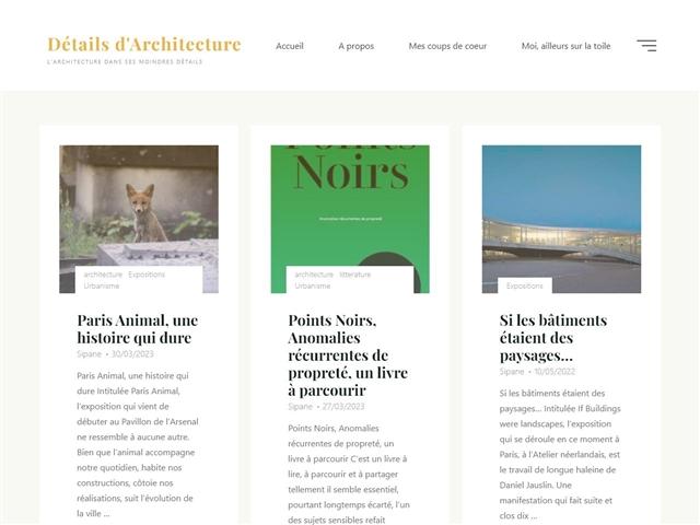 Détails d'Architecture : Paris