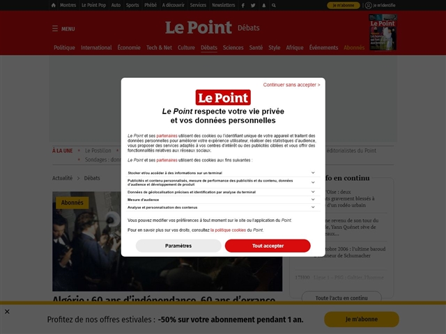 Le Point : Débats