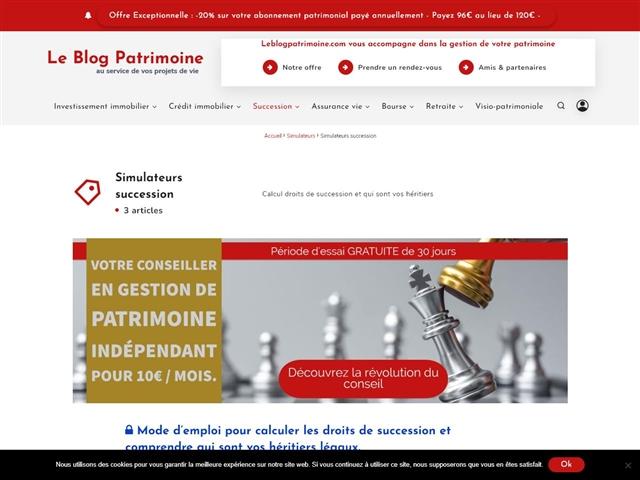 Le Blog Patrimoine : Simulateurs Succession