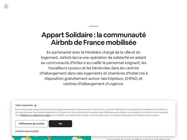 Airbnb : Solidarité médicale