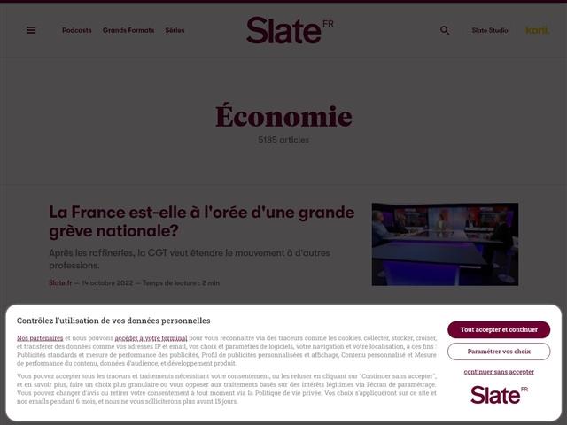Slate : Economie