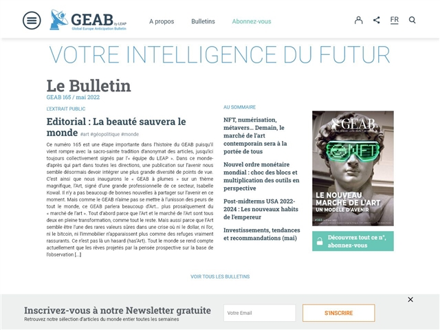 GEAB - Global Europe Anticipation Bulletin