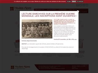 Hautes-Alpes (05) - Archives départementales