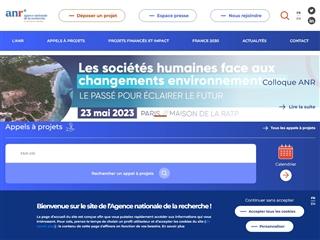 ANR : Agence nationale de la recherche