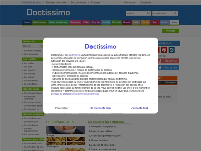 Doctissimo : Recettes