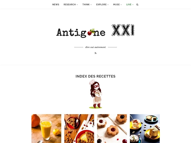 Antigone XXI : Index des Recettes